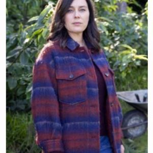 The Drowning 2021 Jodie Plaid Coat Jill Halfpenny Tartan Coat