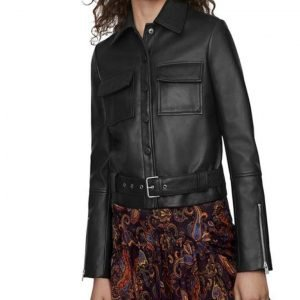 Jodie Black Leather Jacket | The Drowning Jodie Leather Jacket