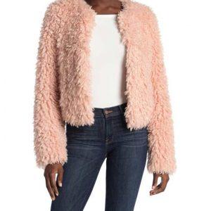 The Equalizer 2021 Delilah McCall Pink Fur Jacket Delilah Fur Coat