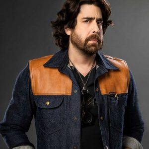 Harry Keshegian Blue Denim The Equalizer 2021 Adam Goldberg Jacket