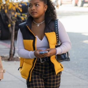 Delilah Winter The Equalizer 2021 Laya DeLeon Hayes Yellow Puffer Vest