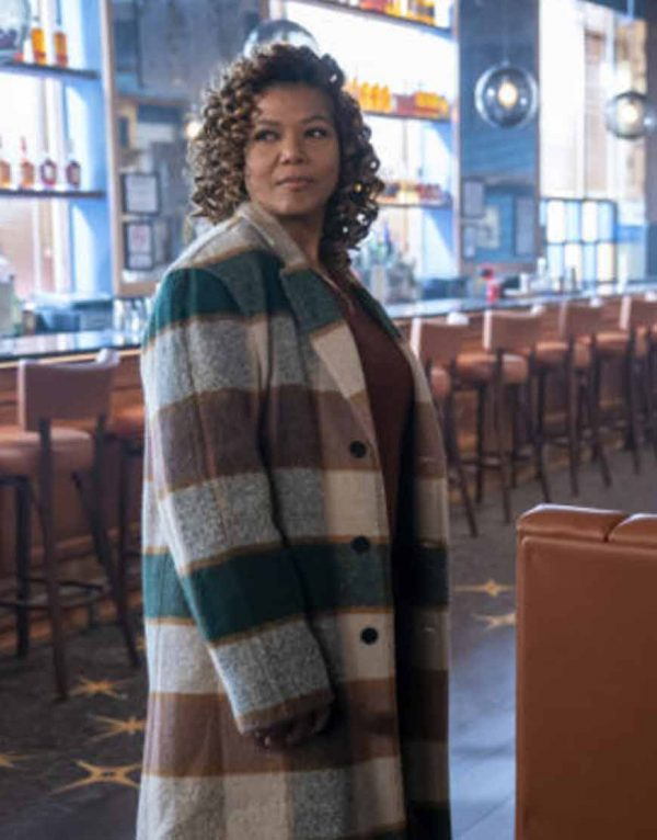 Robyn McCall The Equalizer 2021 Queen Latifah Trench Checked Coat