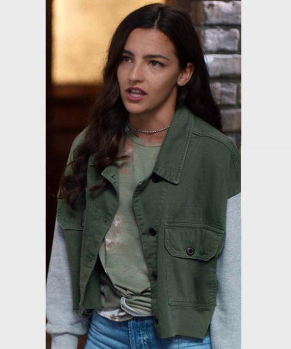 Allegra Garcia TV Series The Flash Kayla Compton Green Jacket