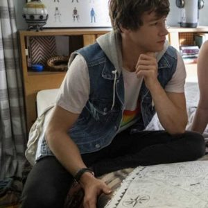 The Map of Tiny Perfect Things 2021 Kyle Allen Mark Blue Denim Vest