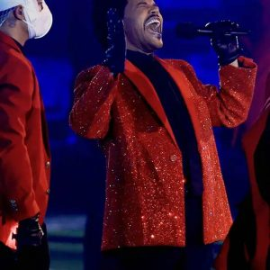 Super Bowl 2021 The Weeknd's Sequins Red Blazer