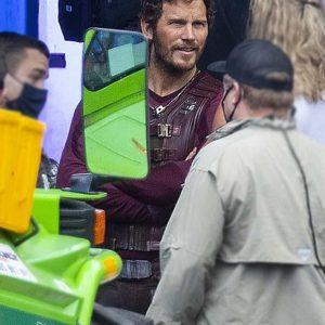 Peter Quill Thor Love Thunder 2022 Chris Pratt Leather Vest