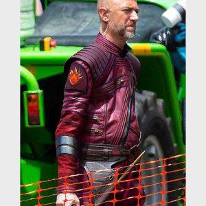Kraglin Obfonteri Thor Love and Thunder 2022 Sean Gunn Red Leather Jacket