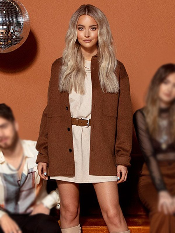 Temecula Road Maddie Salute Brown Button Down Coat