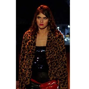 Alexandra Daddario 1 Night In San Diego Kelsey Leopard Jacket