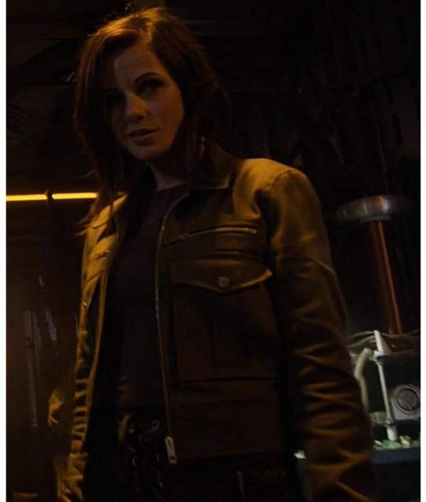 Agents of Shield Window of Opportunity Snowflake Black Leather Jacket
