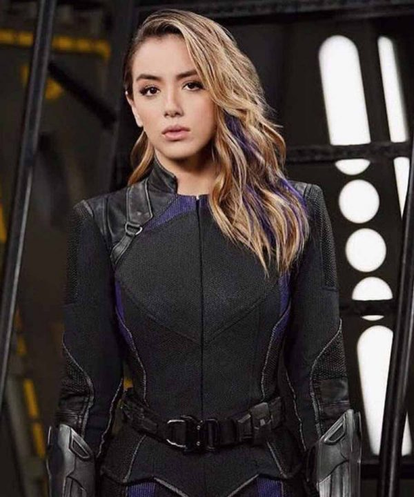 Chloe Bennet Agents of Shield Daisy Johnson Black Leather Jacket