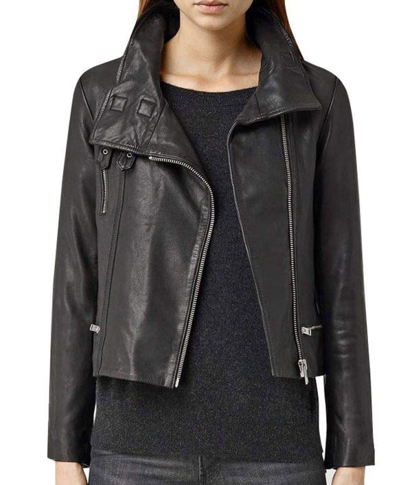 Melinda May Agents of Shield Black Motorcycle Leather Jacket