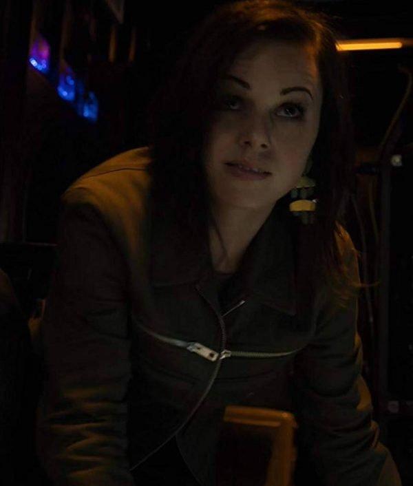 Brooke Williams Agents of Shield Jacket Snowflake Leather Jacket