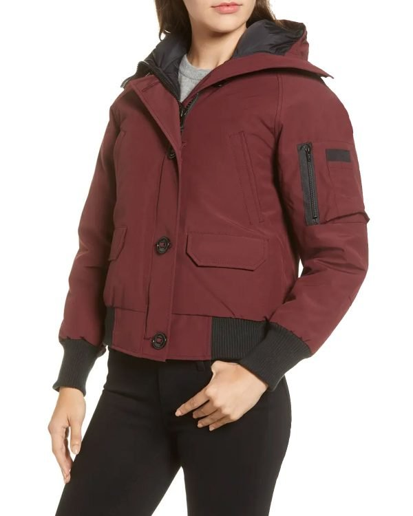 Chicago-P.D.-S08-Hailey-Upton-Bomber-Jacket-With-Hood