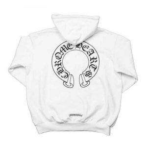 Chrome-Hearts-Floral-Cross-Zip-White-Hoodie