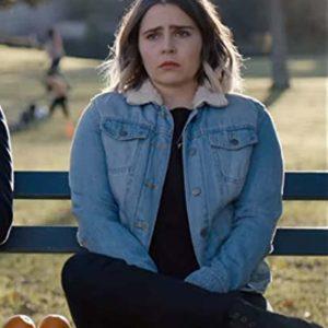 Mae Whitman Good Girls Season 02 Annie Marks Blue Denim Jacket