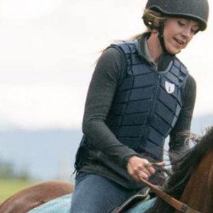 Amber Marshall Heartland Amy Fleming Black Leather Vest