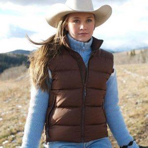 Amber Marshall Brown Puffer TV Series Heartland Amy Fleming Vest