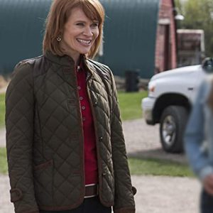 Kendra Lisa Ryder TV Series Heartland Green Quilted Jacket