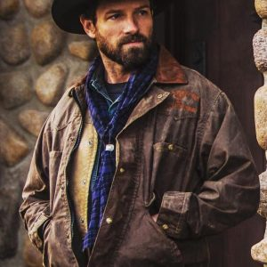 Ryan TV Series Yellowstone Ian Bohen Distressed Leather Jacket