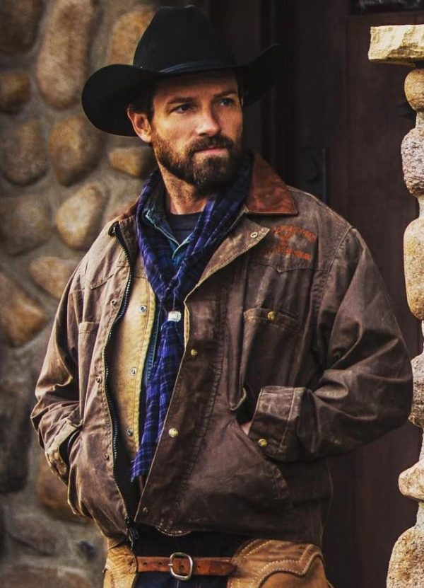 Ryan TV Series Yellowstone Ian Bohen Distressed Leather Jacket