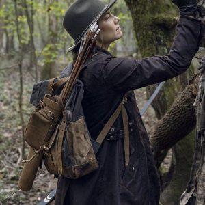 Lauren The Walking Dead Maggie Rhee Brown Cotton Mid-length Coat