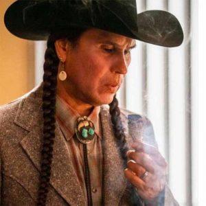 Rainwater Driver TV Series Yellowstone Season 4 Moses Bring Grey Coat