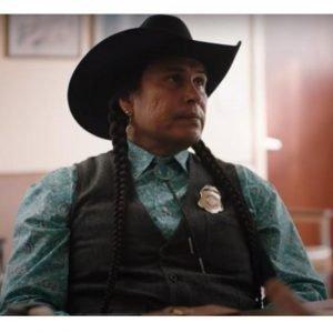 Rainwater Driver TV Series Yellowstone Season 4 Moses Bring Plenty Black Vest