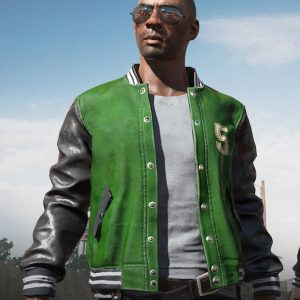 Black And Green PUBG 5M Bomber Jacket