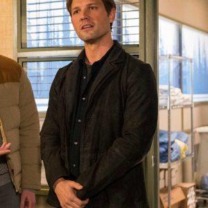 Michael Cassidy TV Series Resident Alien Dr. Ethan Stone Black Blazer Jacket