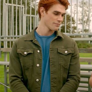 Archie Andrews TV Series Riverdale S05 K.J. Apa Green Cotton Jacket