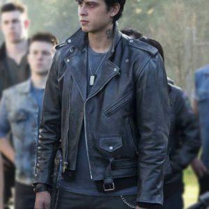 Jordan Connor Riverdale Sweet Pea Black Motorcycle Leather Jacket