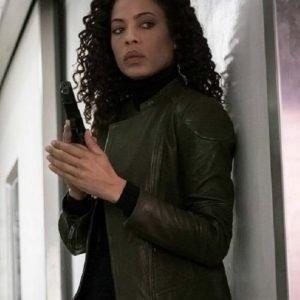 Tawny Cypress TV Series The Blacklist Season 03 Nez Rowan Leather Jacket