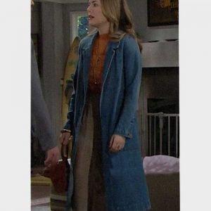 Hope Logan The Bold and the Beautiful Annika Noelle Blue Denim Coat