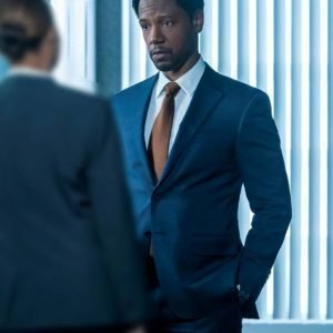 Detective Marcus Dante The Equalizer (2021) Tory Kittles Blue Blazer