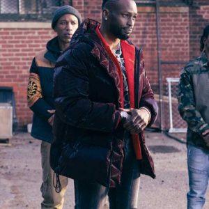 Jayson Wesley TV Series The Equalizer 2021 Kenya Bell Black Puffer Hooded Jacket