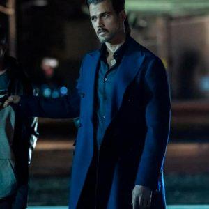 Michel Deveaux The Equalizer 2021 Thomas Beaudoin Blue Mid-Length Coat
