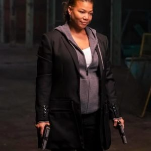 Queen Latifah TV Series The Equalizer 2021 Robyn McCall Black Mid-Length Coat