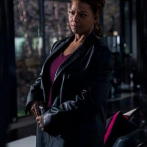 Robyn McCall The Equalizer 2021 Queen Latifah Black Leather Coat