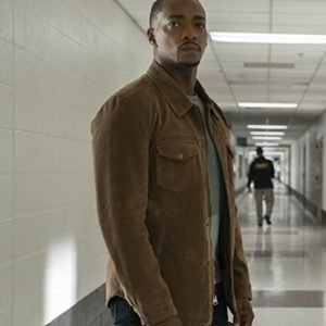 Anthony Mackie TV Series The Falcon and the Winter Soldier (2021) Sam Wilson Brown Jacket