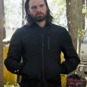Sebastian Stan Black Bomber The Falcon and the Winter Soldier 2021 Jacket