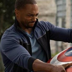Sam Wilson The Falcon and the Winter Soldier Anthony Mackie Black and Blue Jacket