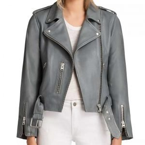 Mekia Cox The Rookie Season 03 Nyla Harper Grey Leather Jacket