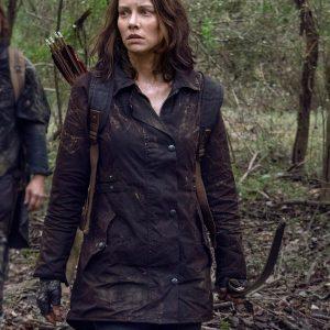 Maggie Rhee The Walking Dead Coat Lauren Brown Cotton Coat
