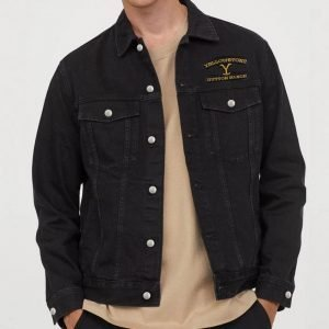 Dutton Ranch TV Series Yellowstone Black Denim Jacket