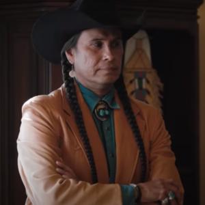 Rainwater Driver TV Series Yellowstone Season 4 Moses Brings Plenty Brown Coat