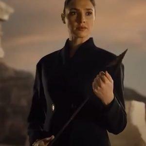 Wonder Woman Zack Snyders Justice League (2021) Black Long Diana Prince Coat