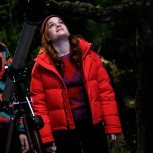 Jane Levy Zoey's Extraordinary Playlist Zoey Red Puffer Jacket