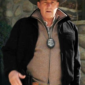 Kevin Costner Black Cotton TV Series Yellowstone John Dutton Jacket