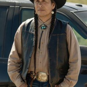 Mo Brings Plenty TV Series Yellowstone S04 Leather Vest